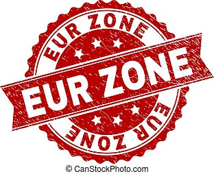 Grunge Textured EUR ZONE Stamp Seal