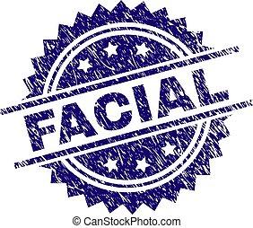 Grunge Textured FACIAL Stamp Seal - FACIAL stamp seal...
