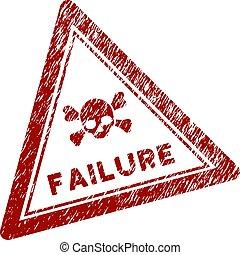 Grunge Textured Failure Triangle Stamp Seal