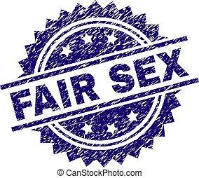 Grunge Textured FAIR SEX Stamp Seal