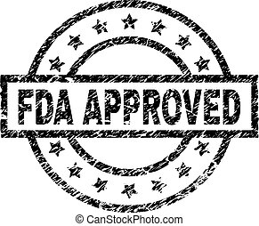 Grunge Textured FDA APPROVED Stamp Seal