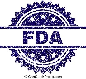 Grunge Textured FDA Stamp Seal