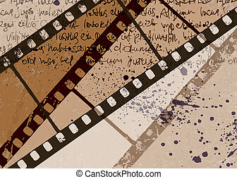 Grunge textured film frame abstract vector background. EPS10.