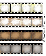 grunge textured film strip
