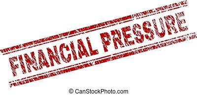 Grunge Textured FINANCIAL PRESSURE Stamp Seal