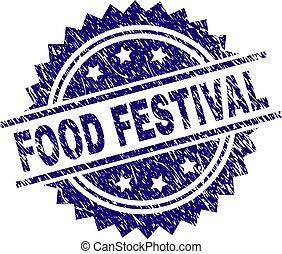 Grunge Textured FOOD FESTIVAL Stamp Seal - FOOD FESTIVAL...