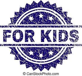 Grunge Textured FOR KIDS Stamp Seal