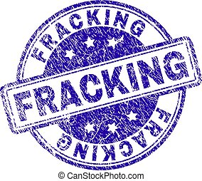 Grunge Textured FRACKING Stamp Seal