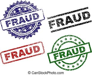 Grunge Textured FRAUD Seal Stamps