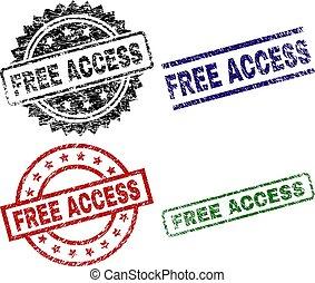 Grunge Textured FREE ACCESS Stamp Seals