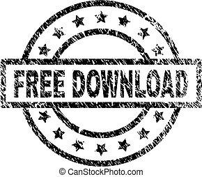 Grunge Textured FREE DOWNLOAD Stamp Seal