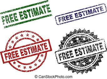 Grunge Textured FREE ESTIMATE Stamp Seals
