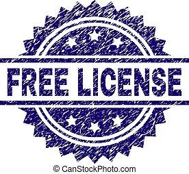 Grunge Textured FREE LICENSE Stamp Seal