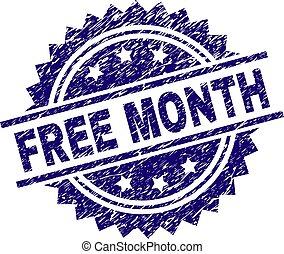 Grunge Textured FREE MONTH Stamp Seal