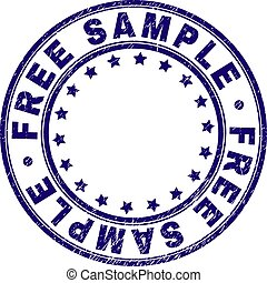 Grunge Textured FREE SAMPLE Round Stamp Seal