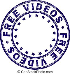 Grunge Textured FREE VIDEOS Round Stamp Seal
