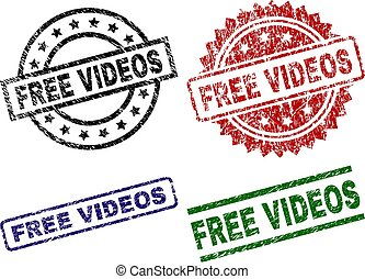 Grunge Textured FREE VIDEOS Seal Stamps