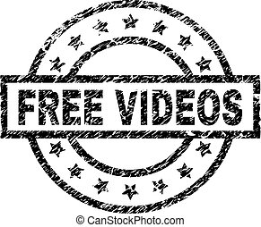 Grunge Textured FREE VIDEOS Stamp Seal