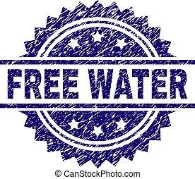 Grunge Textured FREE WATER Stamp Seal