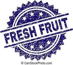 Grunge Textured FRESH FRUIT Stamp Seal - FRESH FRUIT stamp...
