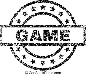 Grunge Textured GAME Stamp Seal
