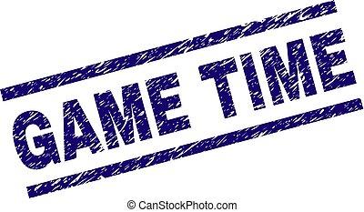 Grunge Textured GAME TIME Stamp Seal