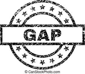 Grunge Textured GAP Stamp Seal