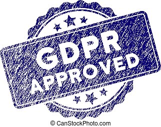 Grunge Textured GDPr Approved Stamp Seal