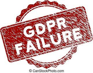 Grunge Textured GDPr Failure Stamp Seal