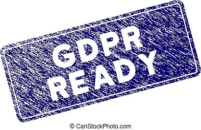 Grunge Textured GDPr Ready Rounded Rectangle Stamp Seal
