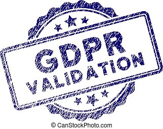 Grunge Textured GDPr Validation Stamp Seal
