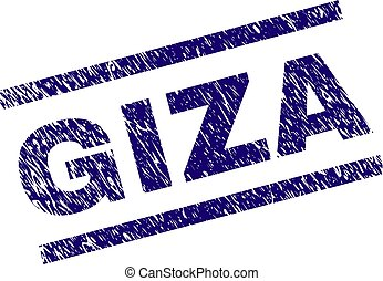 Grunge Textured GIZA Stamp Seal - GIZA seal print with...