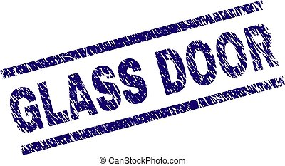 Grunge Textured GLASS DOOR Stamp Seal