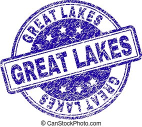 Grunge Textured GREAT LAKES Stamp Seal - GREAT LAKES stamp ...