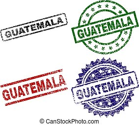 Grunge Textured GUATEMALA Stamp Seals