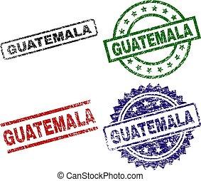 Grunge Textured GUATEMALA Stamp Seals