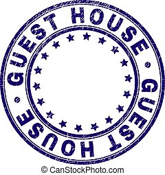 Grunge Textured GUEST HOUSE Round Stamp Seal - GUEST HOUSE ...