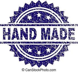 Grunge Textured HAND MADE Stamp Seal