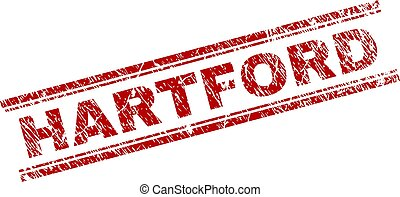 Grunge Textured HARTFORD Stamp Seal - HARTFORD seal stamp...