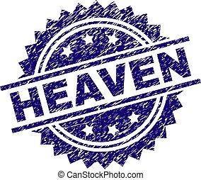 Grunge Textured HEAVEN Stamp Seal
