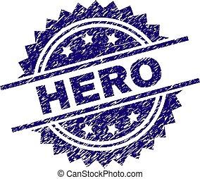 Grunge Textured HERO Stamp Seal