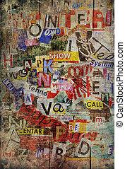 grunge, textured, hintergrund