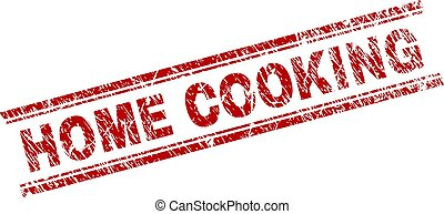 Grunge Textured HOME COOKING Stamp Seal