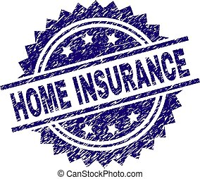 Grunge Textured HOME INSURANCE Stamp Seal