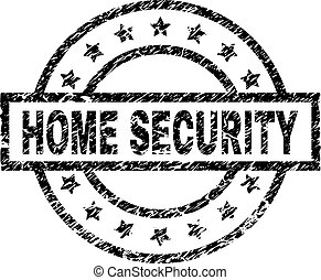 Grunge Textured HOME SECURITY Stamp Seal