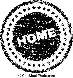 Grunge Textured HOME Stamp Seal