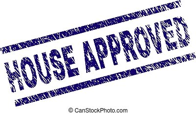 Grunge Textured HOUSE APPROVED Stamp Seal