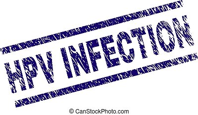 Grunge Textured HPV INFECTION Stamp Seal