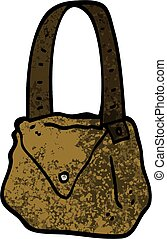 grunge textured illustration cartoon satchel
