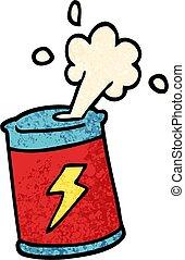 grunge textured illustration cartoon soda can